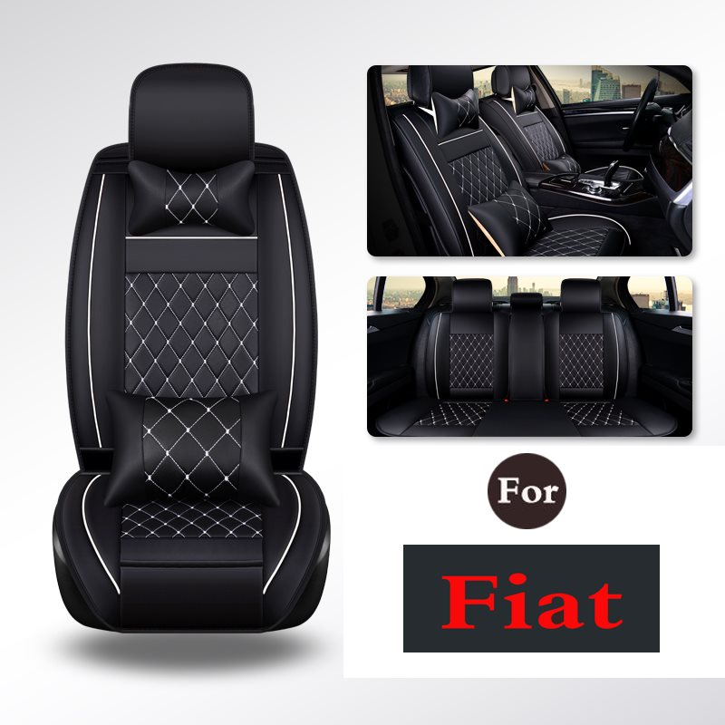 Car Seat Cover Cushion PU Leather Car Truck Seats Breathable Pad Cushion Cover (Fits: Seat)For Fiat Viaggio Ottimo
