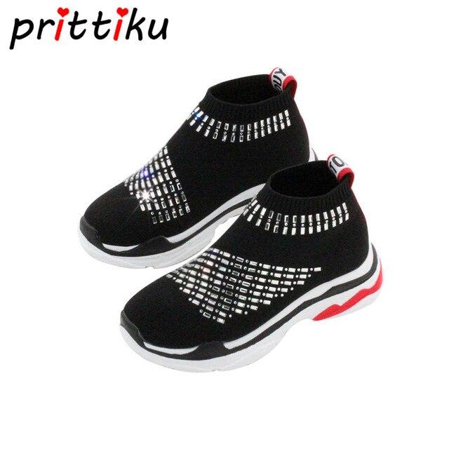 5def97976 Toddler Boys Knitted Mesh Socks Little Girl Sequin Glitter Sparkling  Sneakers Big Kid Child Stylish Bling