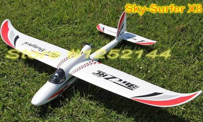 2015 New arraival FPV  EPO Sky Surfer X8 RC Airplane Glider Wingspan 1410mm Wings Removable Best for new Player