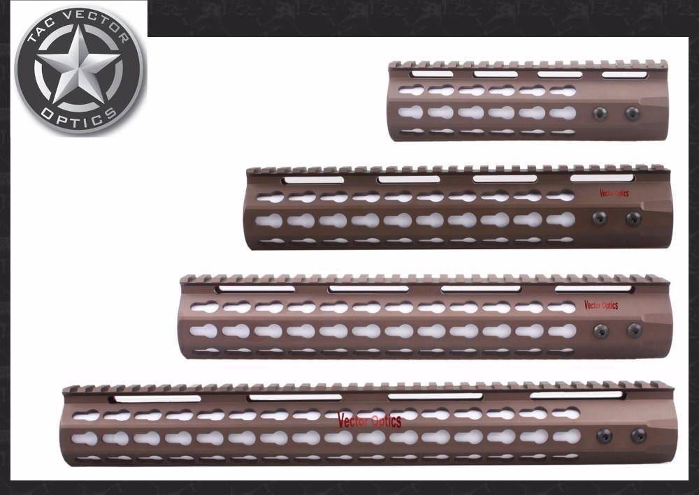 TAC Vector Optics GEN III Slim Key Mod 7'' 10'' 12''' 15'' inch AR15 Free Floating Handguard Picatinny Scope Rail Mount Bracket  bering optics gen 1 polaris 2 5x40 be14140