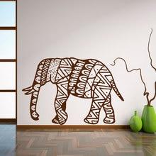 Wall Decal Elephant Mandala Buddha Home Decor Bohemian Bedroom Living Sticker Art Vinyl Mural WY-78