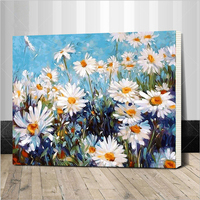 Framed Picture Painting By Numbers Modern Flower Home Decor For Living Room Hand Unique Gifts G053