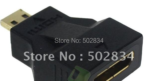 30pcslot Micro HDMI Male to HDMI Female Converter Connector Adapter