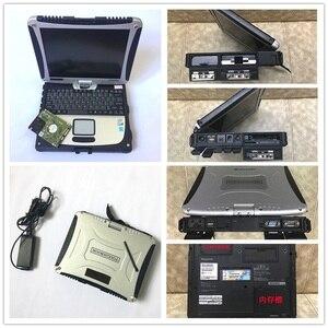 Portátil CF19 P-anasonic CF-19 Toughbook para alldata y software mitchell MB Star c3 c4 c5 CPUi5 ordenador 4gb cf 19 envío gratis