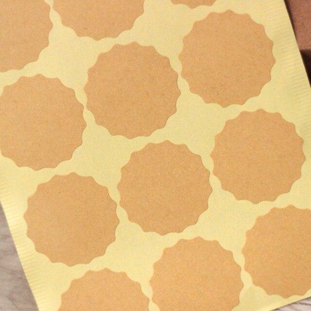 blank flower kraft stickers seal label sticker envelope stickers