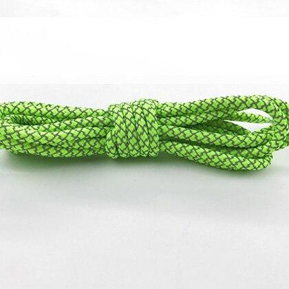 Leyou 100-160cm люминесцентная лампа кроссовки шнурки спортивные шнурки 3м Reflective круглые веревочные шнурки светлые шнурки Led - Цвет: Bright green