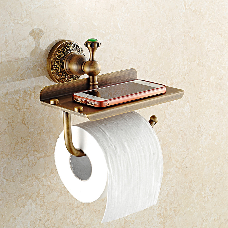 Antique european solid brass phone holder toilet paper - Solid brass bathroom accessories ...