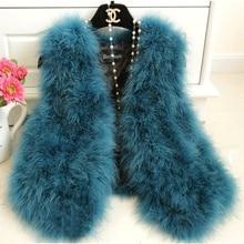 Шерстяной жилет из страуса, меховой короткий дизайн, утепленный женский жилет-свитер из Турции, верхняя одежда, теплый меховой жилет, шуба