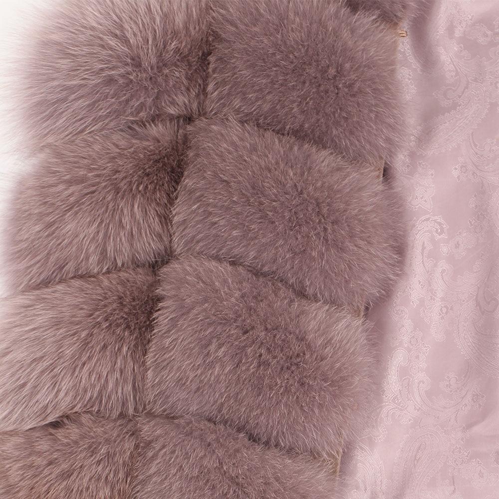 Image 2 - maomaokong 100% Fox Fur Vest Women Real Natural Whole Fox Fur Coat 90CM Long Winter Fur Jacket Waistcoat Plus Size 4XLReal Fur   -