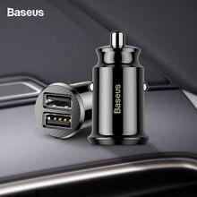 Baseus Mini Car Charger For iPhone x Samsung s10 Xiaomi mi 9 3.1A Fast Car Charg