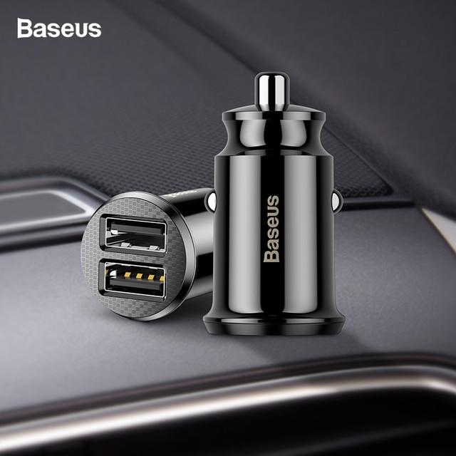Baseus mi ni cargador de coche para iPhone x Samsung s10 Xiaomi mi 9 3.1A coche rápido de carga de adaptador de cargador de coche USB cargador de teléfono móvil