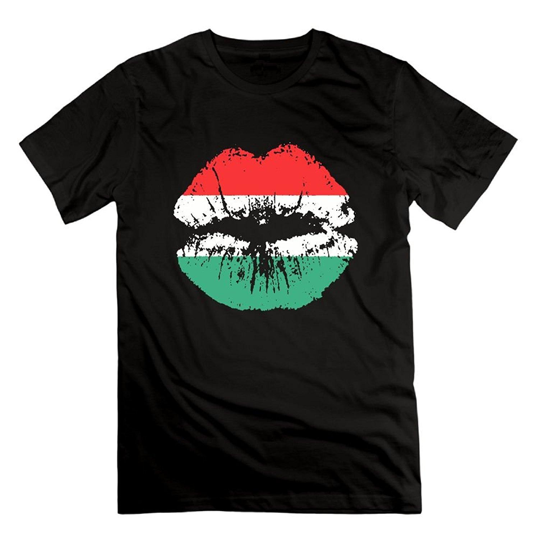 LKFI KDJI Funny Mens T Shirt - Pan American African Heritage Flag Colors Lips