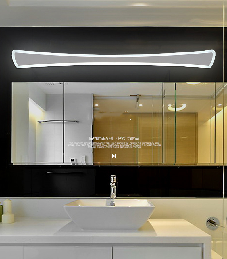 Wall Light Optional Mode of Transport, Modern Bathroom / Toilet LED Mirror Lights, Bathroom Acrylic Mirror Front Lamps, 42CM 14W little library 6 books