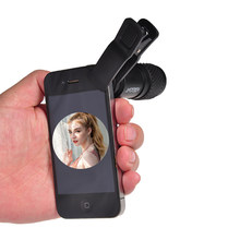 KINGOPT gran angular 7x18 mini visión nocturna smartphone monocular telescopio visión nocturna con clip para viajes y caza