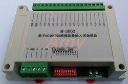 M-3002 Modbus gebaseerd 8 kanaals spanning/stroom analoge ingang module plug en pull terminal