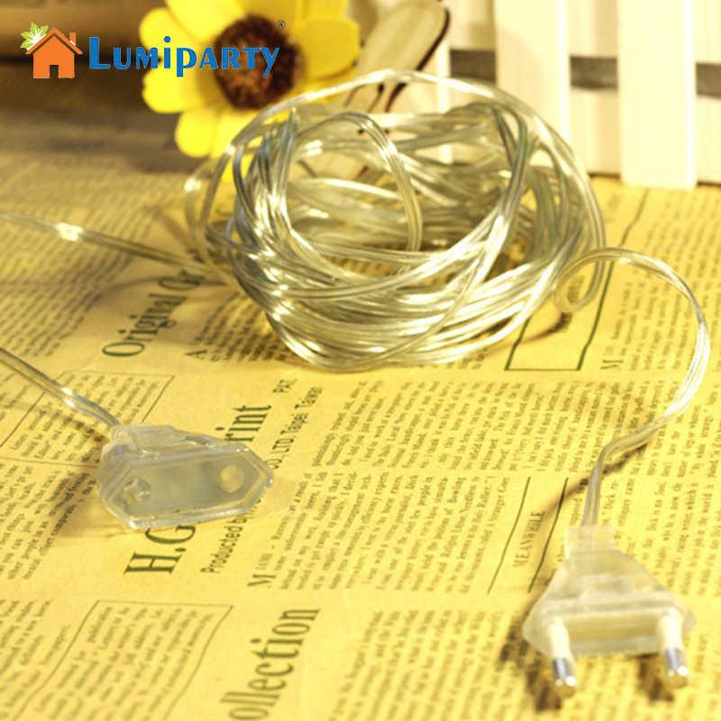 Lumiparty liniami kabel 3 metr przedłużacz kabla dla LED ue wtyczką przełączanie światła przezroczysty drut kabel przedłużający