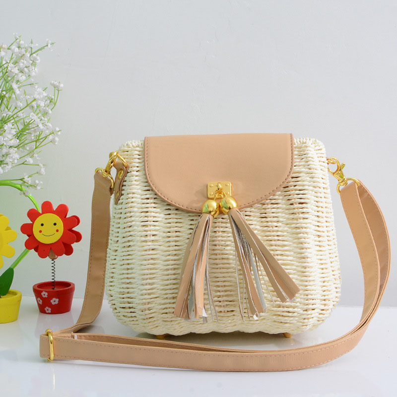 New Women Tassel Straw Bags Bohemian Female Vintage Rattan Knitted Handbag Summer Beach Lady Casual Weave Shoulder Bag SS3161 (3)