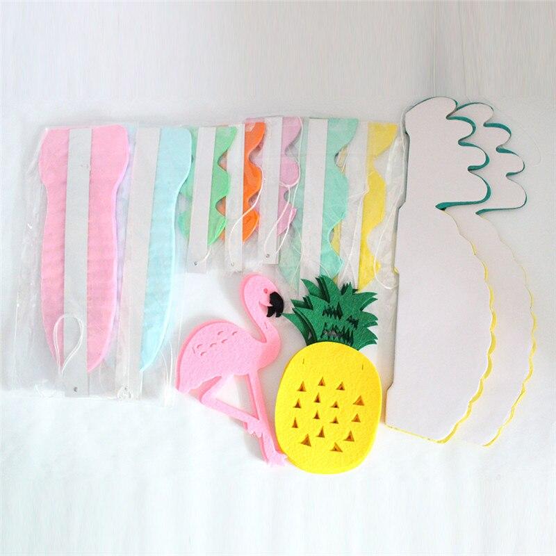 Купить с кэшбэком Zilue 10Pcs/Set Summer Party Paper Fans Pineapple Balls Flamingo Pineapple Banner Garlands For Wedding Birthday Party Decor