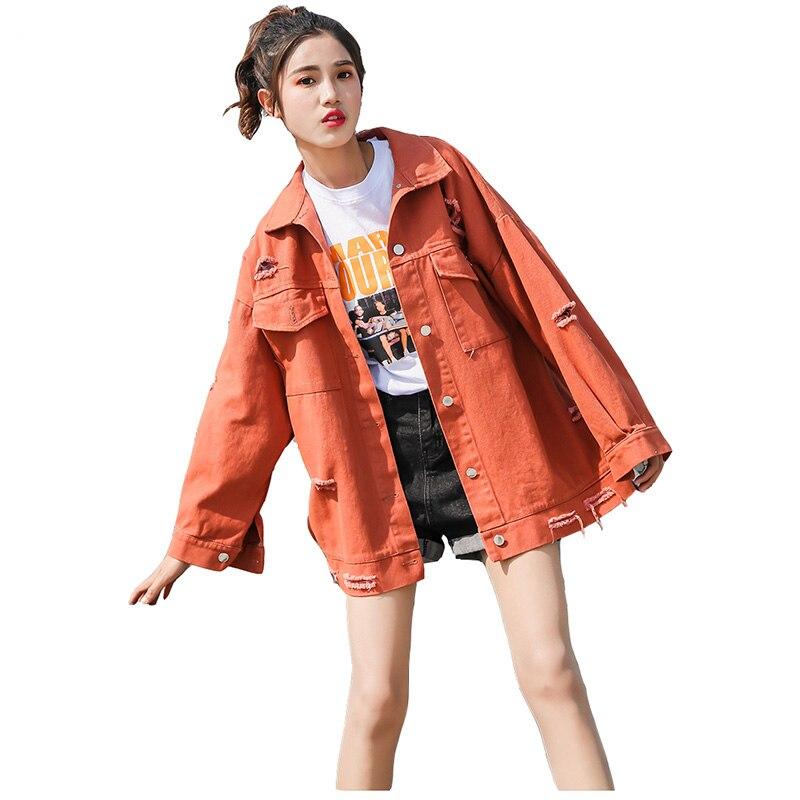 2018 Демисезонный студентов большой размер свободные Для женщин куртка новая мода отверстие письмо хан издание Для женщин куртка S-XL Топ Y1197 ...