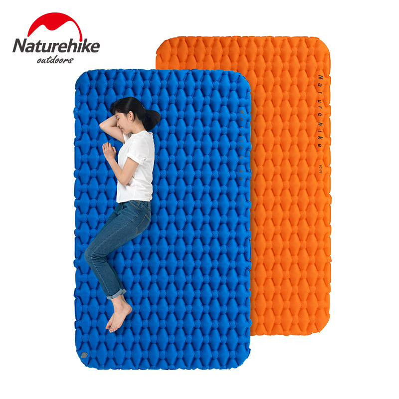 Naturehike Outdoor Camping Inflatable Cushion Moisture proof Sleeping Bag Mattress Mat Pad With Inflatable Bag For 1 2 Persons-in Camping Mat from Sports & Entertainment    1