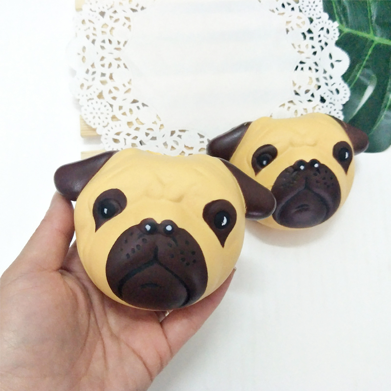 Soft Material Squeeze Toys PU Cute Puppy Pattern Slow Rising Novelty Antistress Toy Stress Relief Wrist Exercise Xmas Gifts