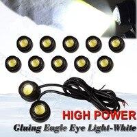 10X 23mm Eagle Eye LED 9W Xenon White Motor Car DRL Fog Driving Backup Light 12V