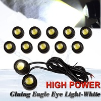 10X 23mm Eagle Eye LED 9W Xenon White Motor Car DRL Fog Driving Backup Light 12V