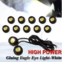 CYAN SOIL BAY 10X 23mm Eagle Eye LED 9W Xenon White Motor Car DRL Fog Driving Backup Light 12V