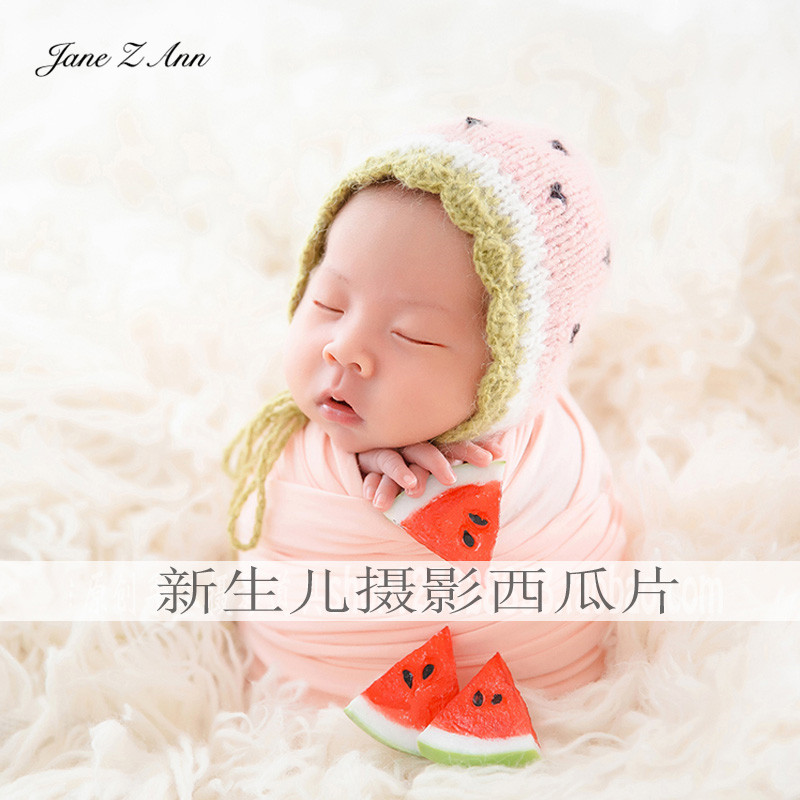 2019 New Style Jane Z Ann Imitating Watermelon Photography Props Newborn Infants Mini Fruit Studio Shooting Accesories Boys' Baby Clothing