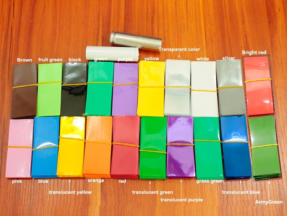 Купить с кэшбэком 100pcs/lot Lithium battery packaging film 18350 special PVC plastic heat shrinkable sleeve battery skin insulation shrink film