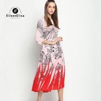 Luxury Dress Designers Runway Summer 2017 Long Dresses Women Print Dress Party Dresses