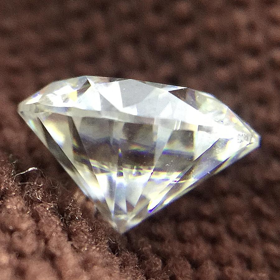 Round Brilliant Cut 2ct Carat 8.0mm F Cor Moissanite Pedra Solta VVS1 Excelente Corte Grau Teste Positivo Diamante De Laboratório