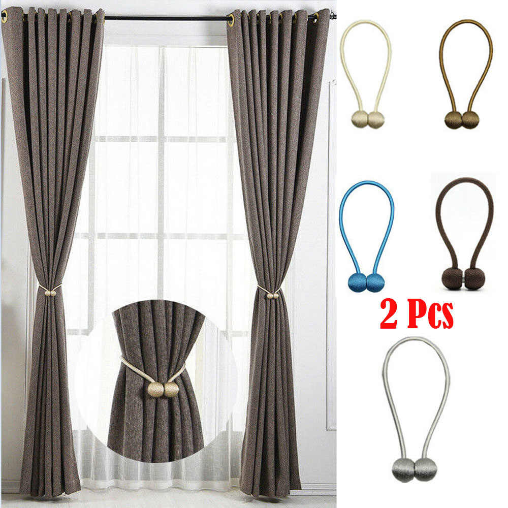 Magnetic Ball Curtain Tiebacks Tie Backs Buckle Clip Holdbacks Home Window Decor