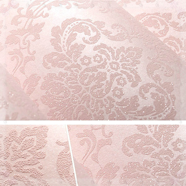 classic european damascus non woven wallpaper damask floral print