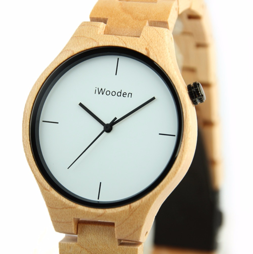 100% natural ebony wood women/men watch fashion healt $