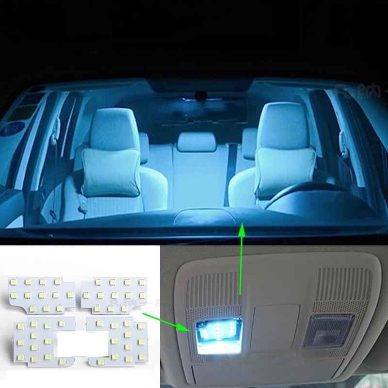 4pcs per set Super Bright Led Interior Dome Map Reading Light Lamp For MAZDA CX-5 CX5 Atenza Axela Car-Styling super bright car styling 9pcs car led kit interior glove box light for 2014 2015 kia sorento trunk dome map license plate lights