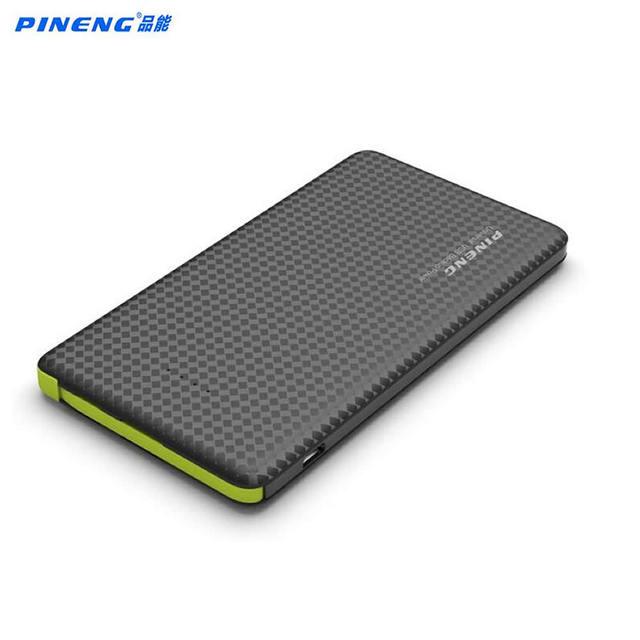 Original Pineng PN 952 Batería Externa Powerbank Banco de la Energía 5000 mAh 5 V 2.1A Salida USB para iPhone6s Android teléfonos