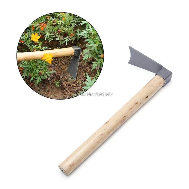 Hand Tool Hoe With Wooden Handle Digger Tools Home Garden Farming  Agriculture Mini Hoe Digging Tool