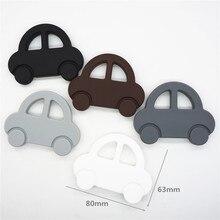цены Chenkai 5PCS BPA Free DIY Silicone Car Teether Chewing Pendant Nursing Teething Toy Baby Pacifier Dummy Sensory Gift