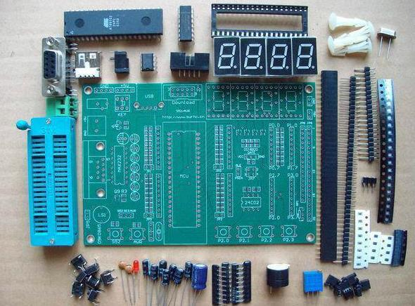 US $21 5 |Free Shipping! 1pc AT89S52 microcontroller development board DIY  Kit + CD (supports STC / AVR)-in Integrated Circuits from Electronic