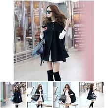 2019 Newly Hot Women Lady Cloak Poncho Coat Loose Fashion Outwear Medium Length Clothing For Winter MSK66