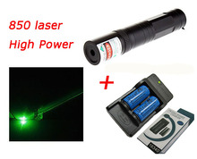 Buy online Laser 850 lamp High power laser pen, 405nm pen  flashlight laser pointer+16340 battery*2+charger