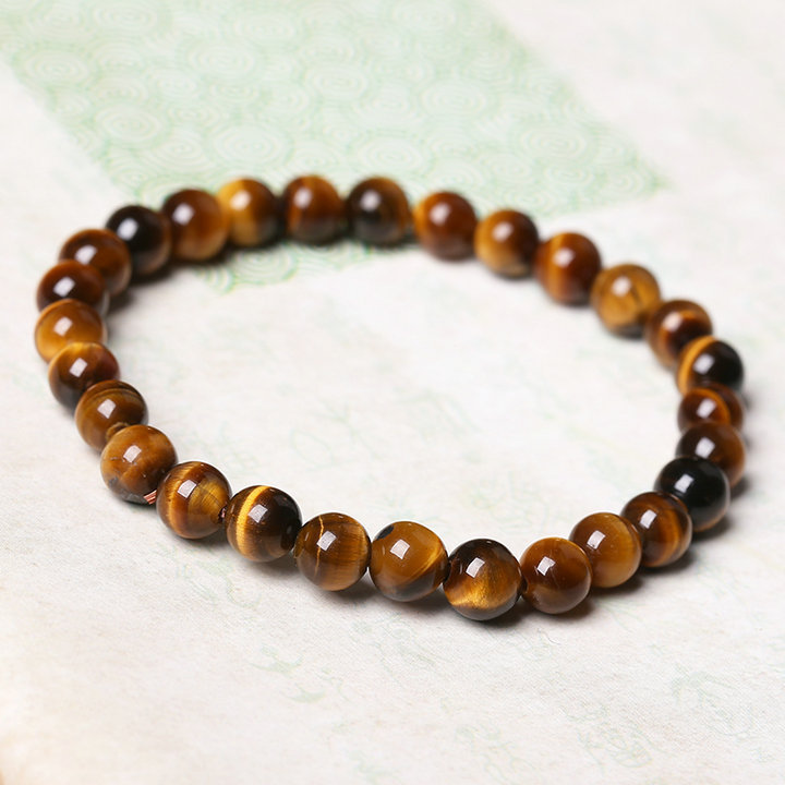 Natural Tiger's Eye Stone Bead Bracelet 4