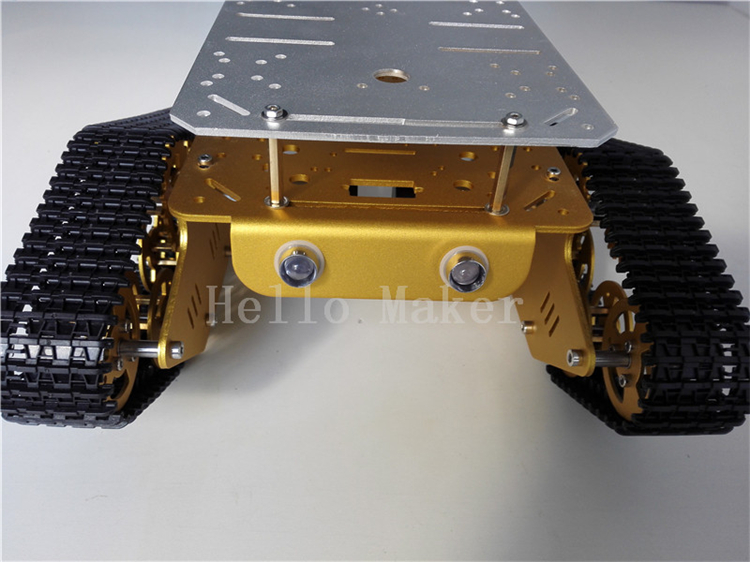 Hello Maker T350 Alloy DIY Tank Chassis with Double Chassis Plate Robbot Chassis unbrand diy sushi maker
