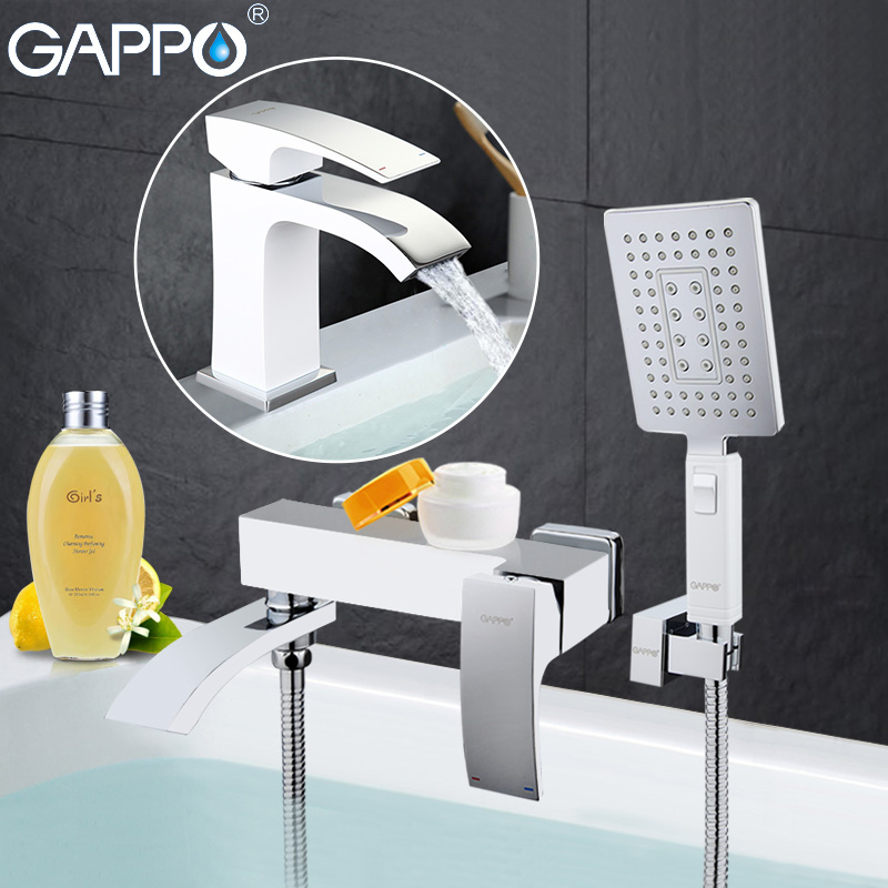 GAPPO di alta qualità cascata vasca da bagno lavello rubinetto miscelatore torneira bagno lavandino rubinetti doccia e Rubinetto Del Bacino GA3207-8 GA1007-8