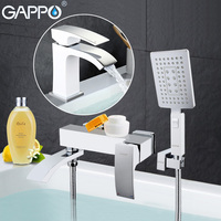 GAPPO high quality waterfall bath sink faucet torneira mixer restroom sink shower faucets and Basin Faucet GA3207 8 GA1007 8