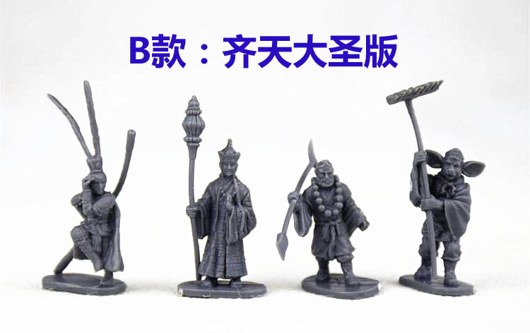 super mini Toy pvc figure for DIY 1:72 magical myth Journey to the West Monkey Model 4pcs/set