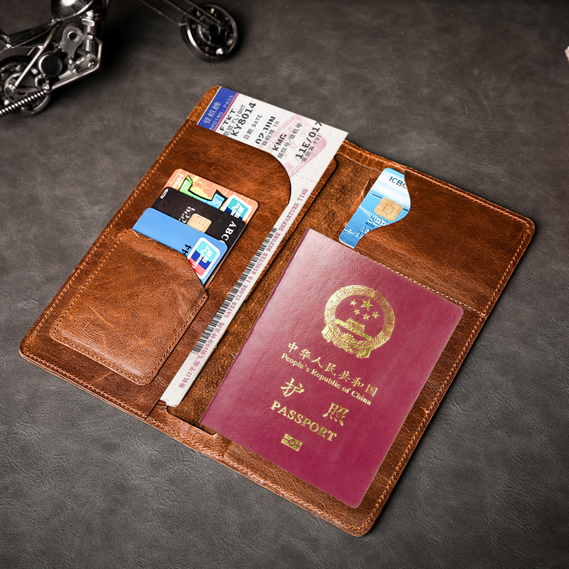 Best Christmas Candy Gifts Leather Passport Holder Cover Case Blocking Travel Wallet