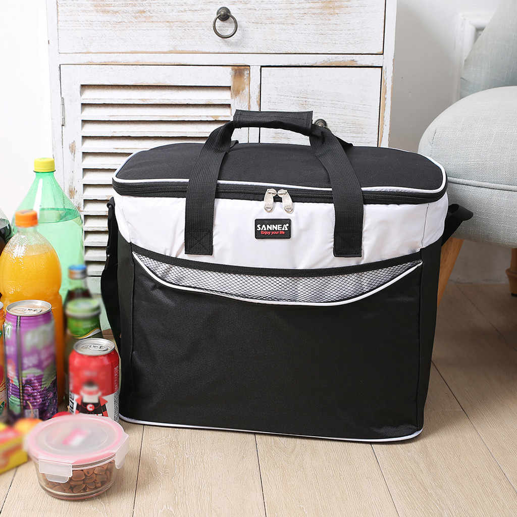 Portable Multi-function Outdoor Picnic Portable Lunch Box Bag Fresh Milk Vegetable Lunch Box Handbag Insulation Bag H0521