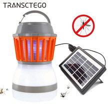 Zonne-energie Mosquito Killer Lamp Bug Zapper Trap Camping Lantaarn Camping Lantaarn Draagbare Anti Mot Fly Elektrische Uv Licht(China)